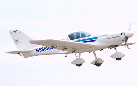 (Photo courtesy of University Relations) Tony Monetti, assistant dean of aviation and executive director of the UCM airport, pilots one of the airplanes manufactured by Renegade, which is an example of the light sport aircraft that will be on display by aircraft owners this weekend.