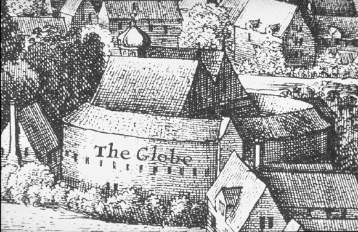 Shakespeare's Globe building indoor theater