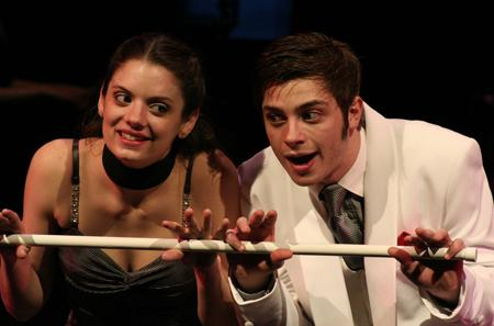 Aaron Markarian performs with Nicole Hall in UCM's production of