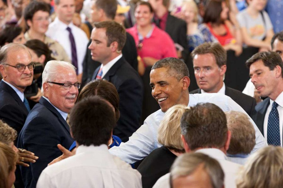 Photo+by+TAZ+HALL+%28digitalBURG%29+Obama+shook+hands+with+many+in+attendance+before+leaving+the+SRWC.