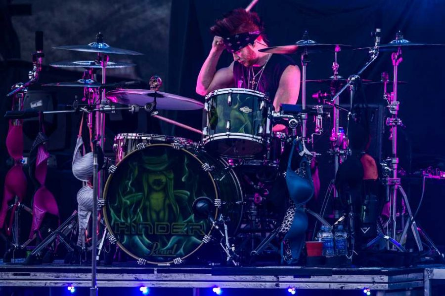 Cody Hansen, drums, at the Pepsi Grandstand on Saturday.