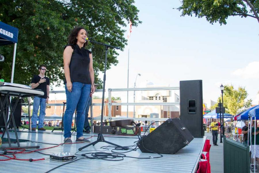 Ali Castro, a recent runner up of the 2013 Missouri Idol competition, sang the National Anthem. She is a native of Puerto Rico, and the wife of an active duty Airman.