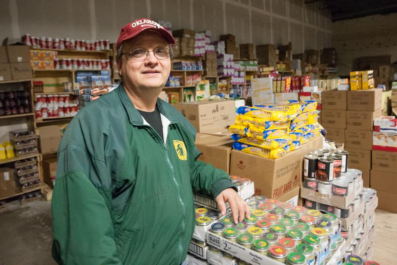 Bob Vickers manages Servant's Open Door in Warrensburg, a program through Johnson County United Way that financially supports 20 nonprofit organizations and an additional 88 groups with food and other items. Servant's Open Door is located in a warehouse donated by local developer Jerry Franklin behind Dollar General.