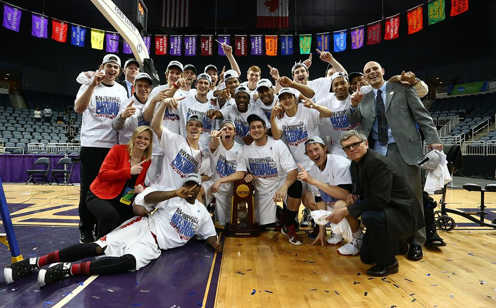 (Courtesy photo) The Mules defeated West Liberty 84-77 Saturday to win the NCAA-II Men's Basketball National Championship.