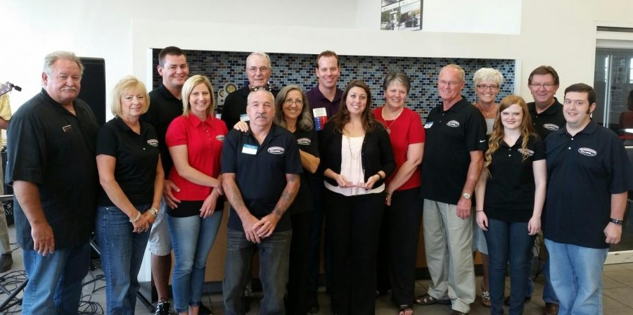 Warrensburg+Collision+was+recently+named+the+Warrensburg+Chamber+of+Commerce%27s+Business+of+the+Year.+Pictured%2C+from+left%2C+is+Steve+Brewington%2C+Beverly+Brewington%2C+Nick+Novotney%2C+Jessica+Novotney%2C+Marion+Woods%2C+Guy+Reynolds%2C+Ronnie+Reynolds%2C+Casey+Lund%2C+Jessica+Lund%2C+Penny+Lund%2C+Charlie+Lund%2C+Sandy+Jennings%2C+Ellen+Becker%2C+Ray+Jennings+and+Josh+Blaize.