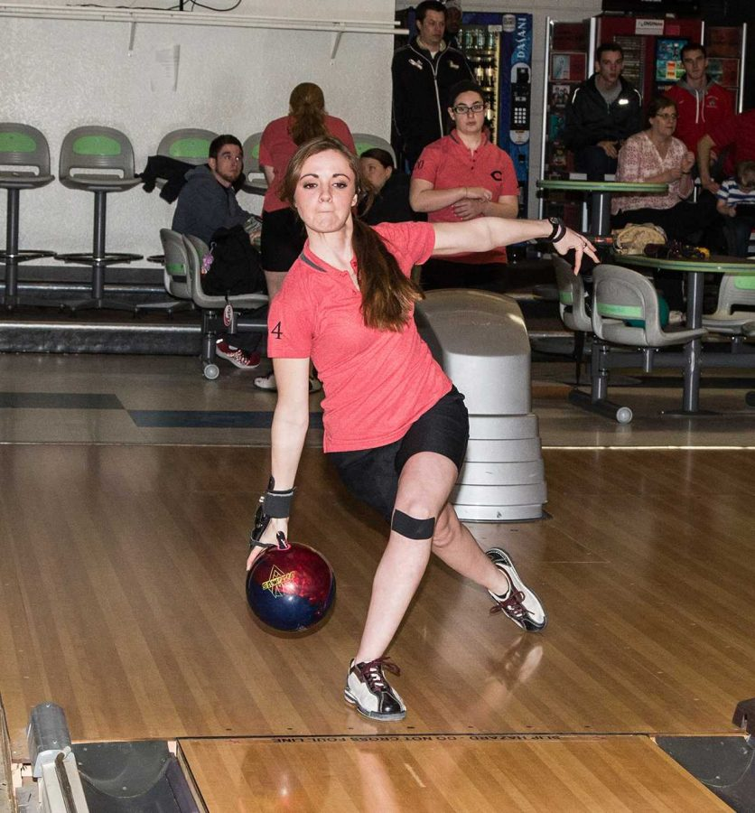 PHOTO SUBMITTED BY UCM ATHLETIC DEPARTMENT Junior Marina Stever was the top placing Jennie at the Arkansas State Mid-Winter Classic where she finished 30th and averaged 189 pins per game.