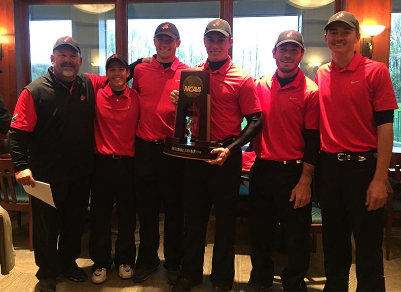 The Mules golf team advanced to the NCAA-II Championships May 16-20 in Denver, Colo.