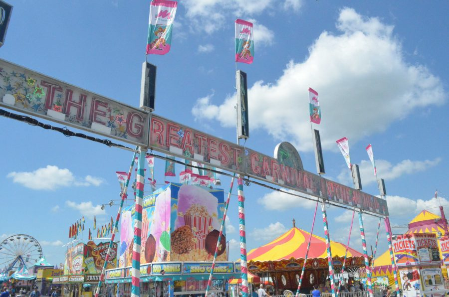 The+carnival+midway+is+open+every+day+durning+the+Missouri+State+Fair%27s+10-day+run.+