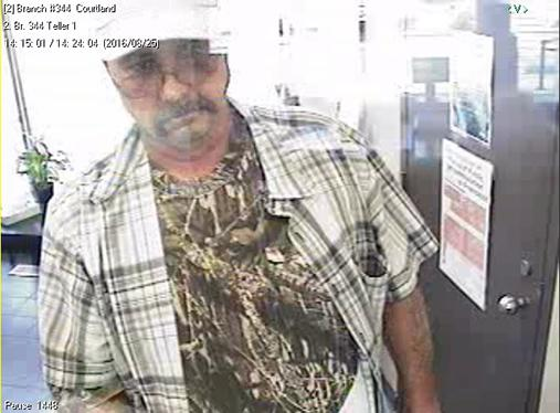 Warrensburg Police are canvassing the area looking for a medium to heavy set white male in his 50s who is about 6 feet in height who robbed UMB Bank Tuesday.