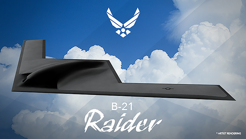 An artist rendering of the new B-21 Raider, which is expected to come to Whiteman AFB in the mid-2020s. (Graphic by United States Air Force.)