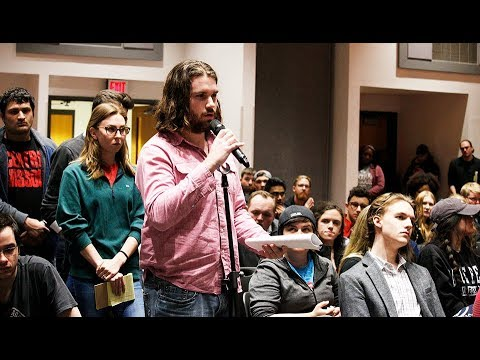 Students have many questions at SGA forum