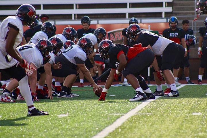 Mules football began practice last week in preparation for the season opening match up with Fort Hays State August 30, in Hays, Kansas. Photo by Chris Holmberg