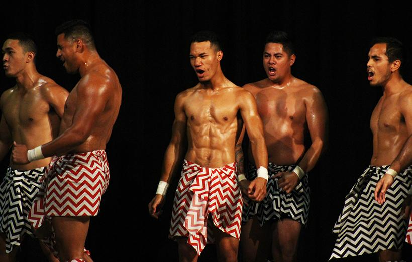 The Polynesian dancers performing at the Family Weekend Talent Show. (Photos by Kaitlin Brothers/News Editor)