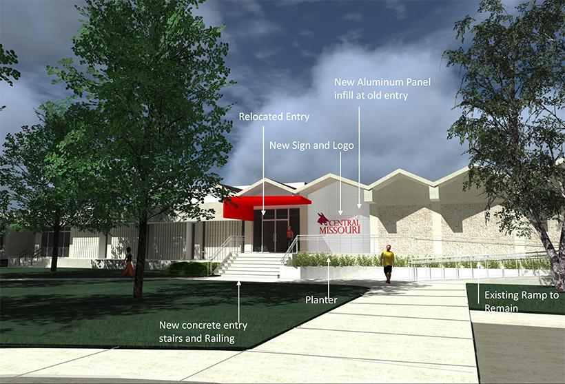 A preliminary conceptual drawing of what the Elliott Student Union might look like after renovation.