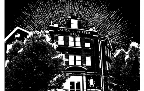 The Laura J. Yeater Hall facade. (Illustration by Britain Bray, illustrator)