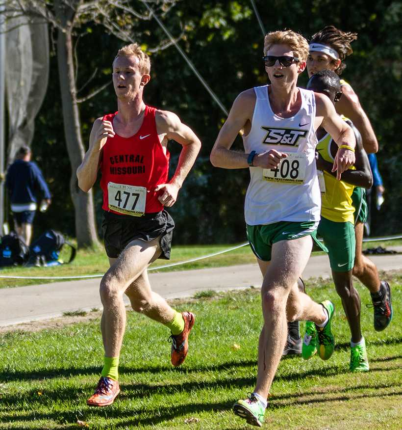 Mule junior Nick Victor earned all-conference honorable mention for his 19th place finish at the MIAA Championship Saturday in Emporia, Kansas. (Photo by Peter Spexarth/For the Muleskinner)