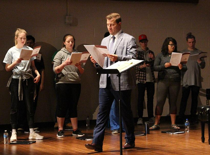 Adam Zrust, director of choral activities, is preparing to take an estimated 30 students to Xi'an (she-an), China to perform in the 2019 Xi'an International Choral Festival July 16-26. UCM is one of only three American choirs to be invited to this year's event. Photo by Jason Brown/Managing Editor