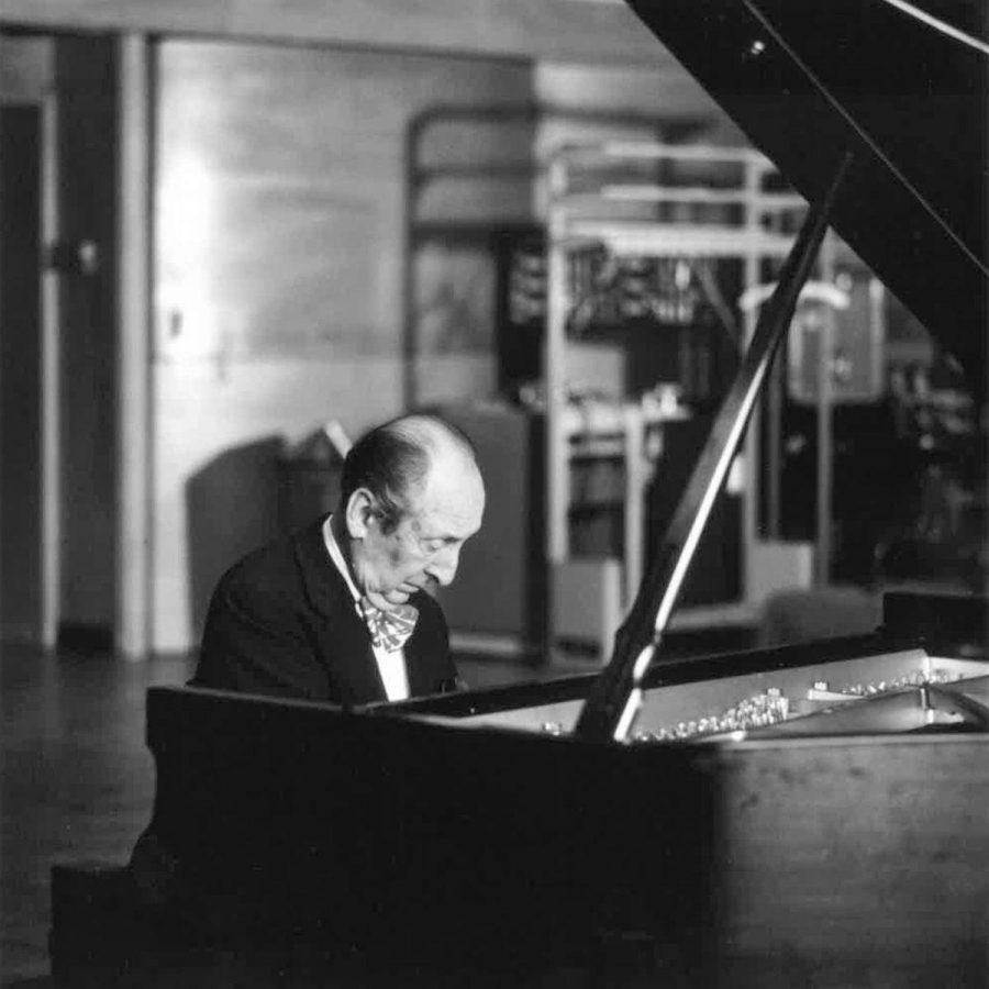 Pianist Vladimir Horowitz plays his piano, CD 503, which he's taken with him to every performance. (Photo submitted by the Office of Integrated Marketing and Communications)
