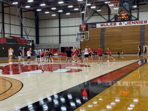 The Jennies Basketball Team practice for their upcoming game on Nov. 24