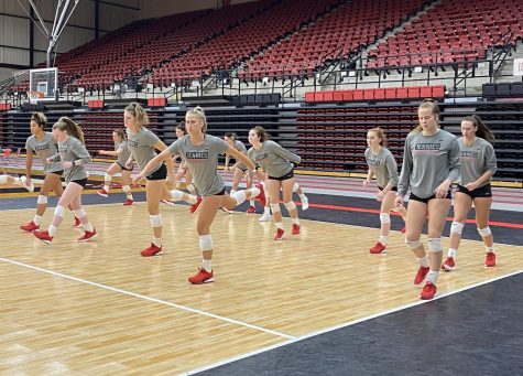 The volleyball team prepares for their next games against Washburn and Nebraska-Kearney.