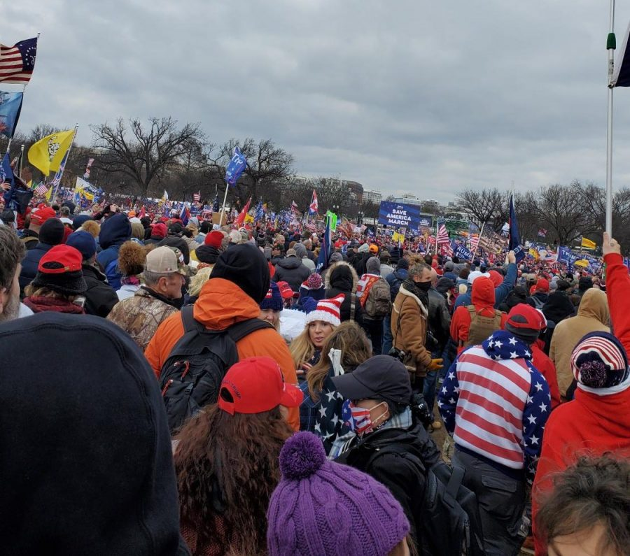 Citizens gather to protest the 2020 president election results in Washington D.C. on Jan. 6.