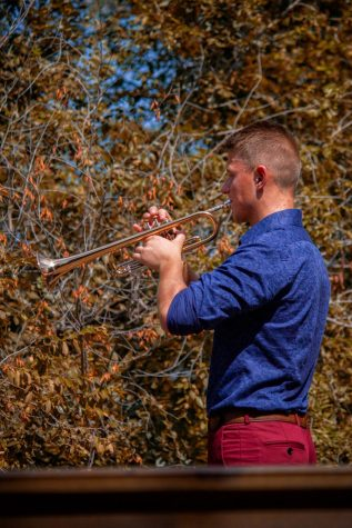"""Kevin Wanner has been composing music at UCM for five years. """"The biggest thing is everything has to come from you, and it"""
