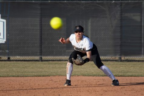 The Jennies conquered William Jewel in their home opening double header. After UCM scored 8 runs in the fourth inning, game one ended in five innings with the Jennies on top 11-3. Game two ended with the Jennies victorious again, 4-0 with the full game time played.