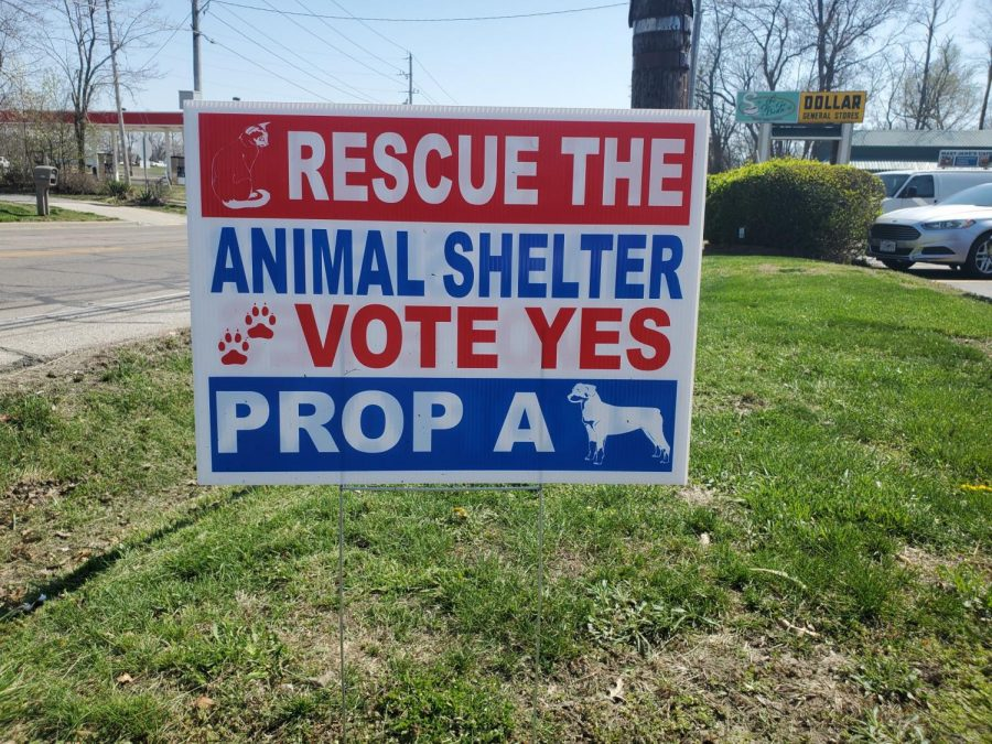 Proposition A signs were placed around the city of Warrensburg.