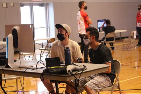 """E-Sports hosted the Super Smash Bros tournament on Sept. 1. """"I think it's a good atmosphere, it's very fun, competitive type atmosphere and it's almost like a sporting event,"""" senior digital media production Connor Nielson said. Junior secondary English education major, Gage Shrader won the Super Smash Bros. tournament."""