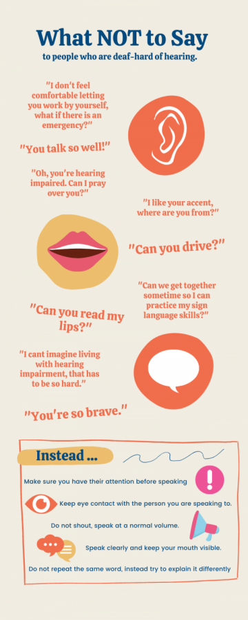 The above phrases are actual comments and questions received by members of the Deaf-Hard of Hearing Community.
