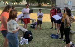 University of Central Missouri a cappella organization for students, the RainbowTones, prepare for their next show on Oct. 30.  Audio clip below features RainbowTones practicing.