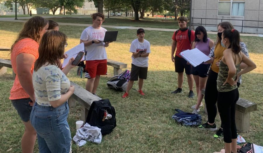 University+of+Central+Missouri+a+cappella+organization+for+students%2C+the+RainbowTones%2C+prepare+for+their+next+show+on+Oct.+30.+%0AAudio+clip+below+features+RainbowTones+practicing.+